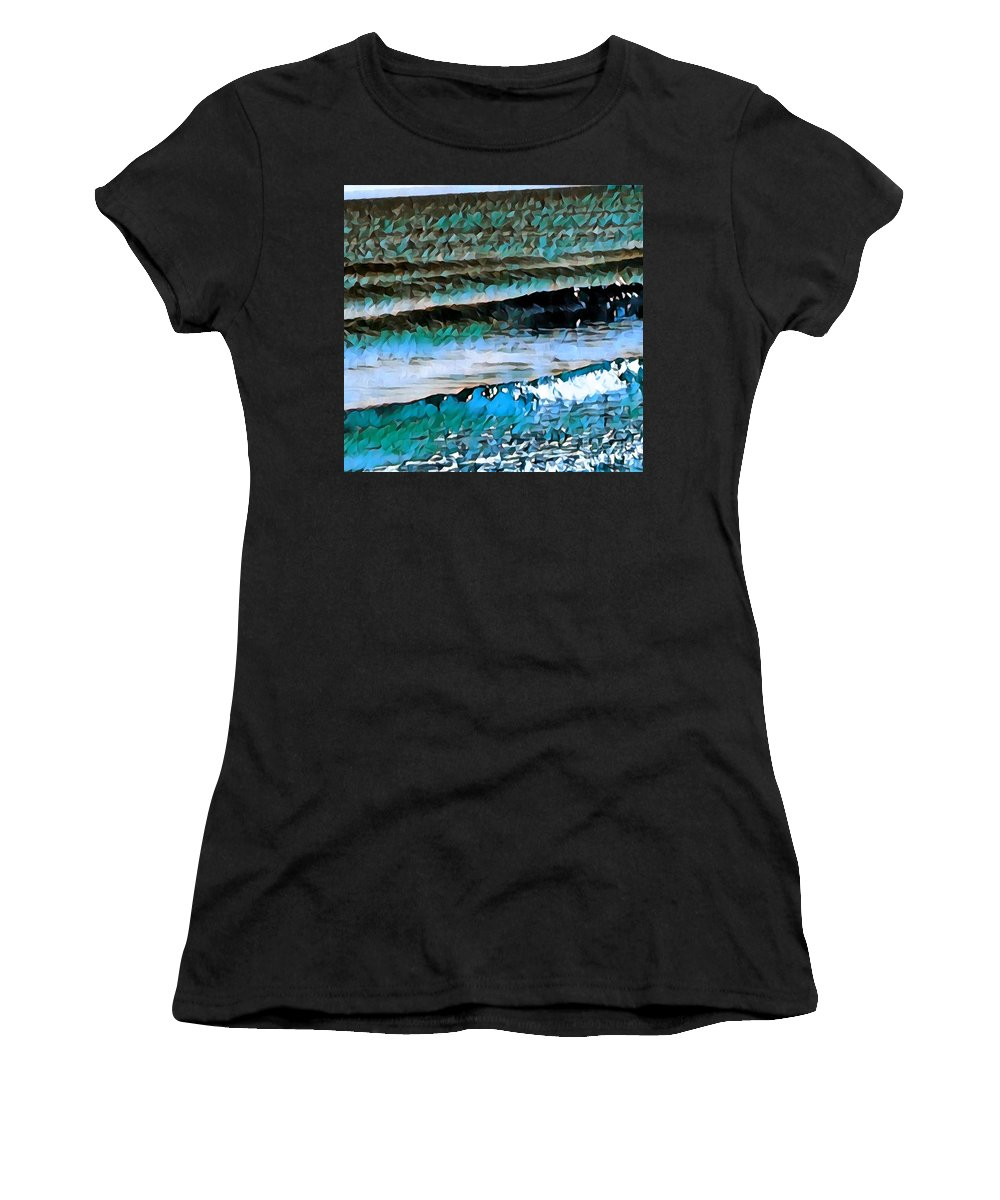 Water Women's T-Shirt (Athletic Fit) featuring the digital art Got The Blues by Brenda Plyer