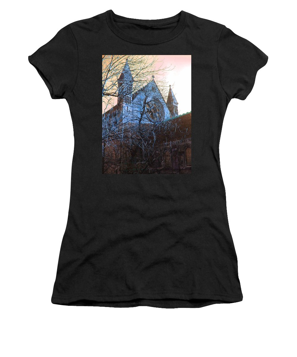 Scotland Women's T-Shirt featuring the photograph Gothic Church by Heather Lennox