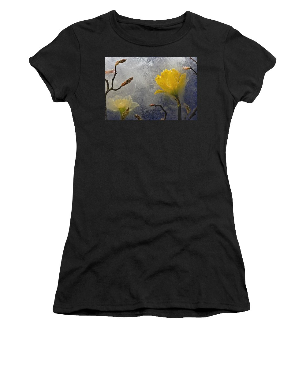Floral Women's T-Shirt (Athletic Fit) featuring the photograph Earth To Heaven by Carmen Moise