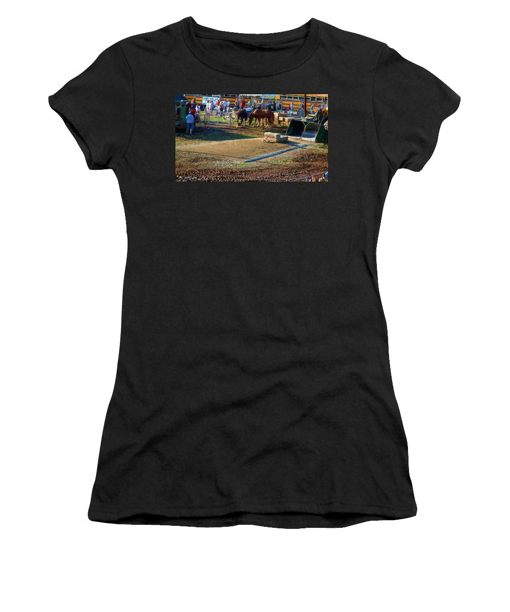 Agricultural Women's T-Shirt featuring the painting Grading The Ring by RC DeWinter