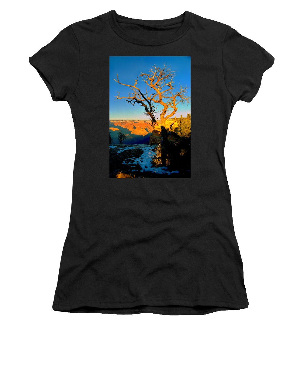 Landscape Women's T-Shirt featuring the photograph Grand Canyon National Park Winter Sunrise On South Rim by Glenn W Smith