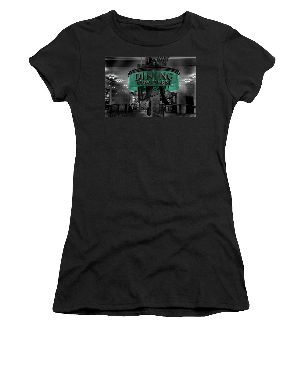Nyc Women's T-Shirt featuring the photograph Grand Central Terminal Selective Color by Charles A LaMatto