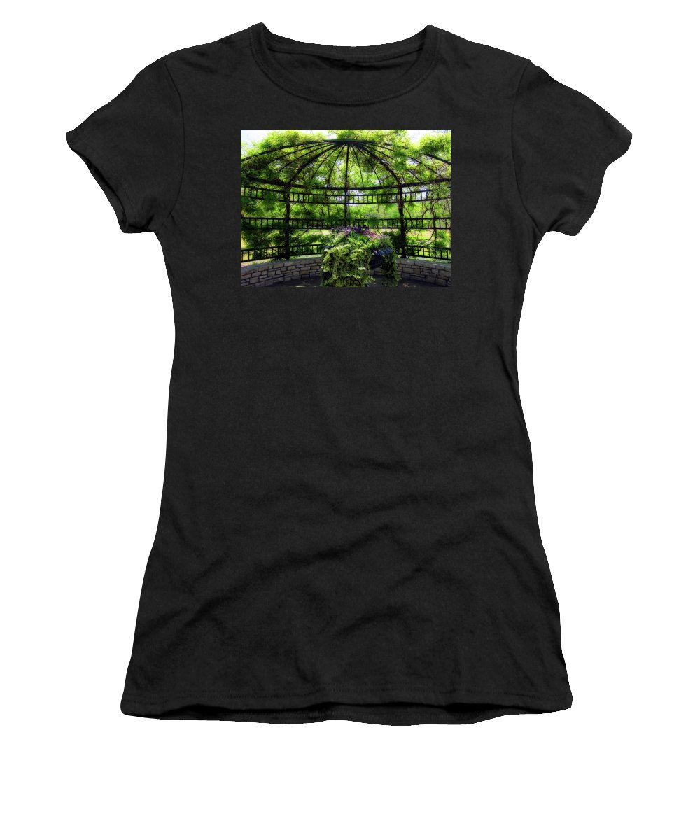 Gazebo Women's T-Shirt featuring the photograph Grand Gazebo by Douglas Barnard