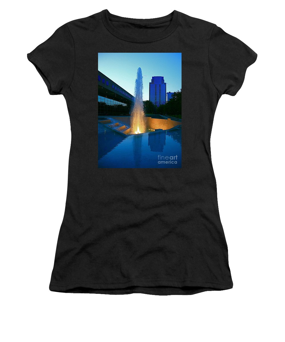 Ford Muesam Women's T-Shirt (Athletic Fit) featuring the photograph Grand Rapids Mi-2 by Robert Pearson