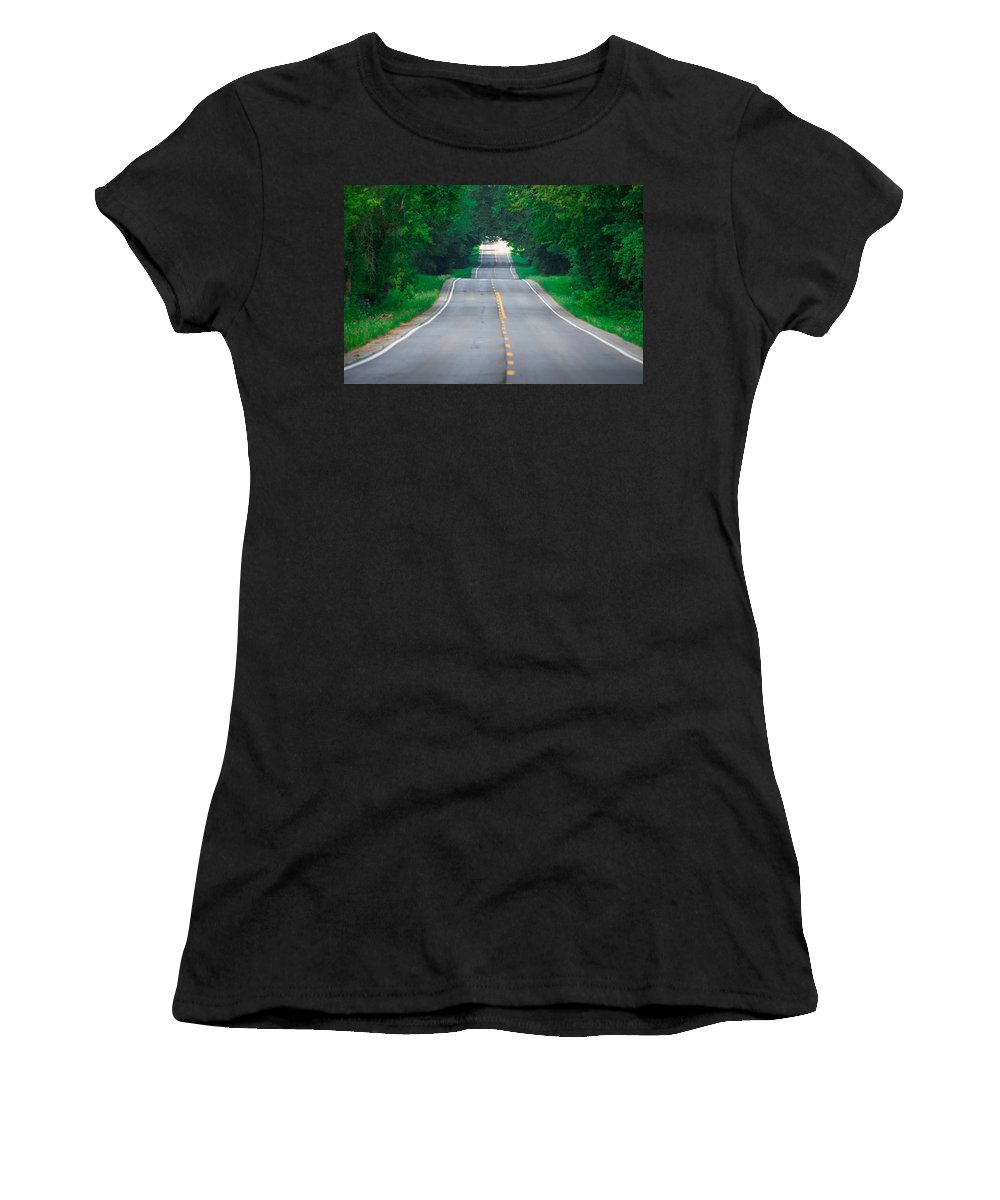 Southern Illinois Women's T-Shirt featuring the photograph Grassy Lake Road by John Diebolt