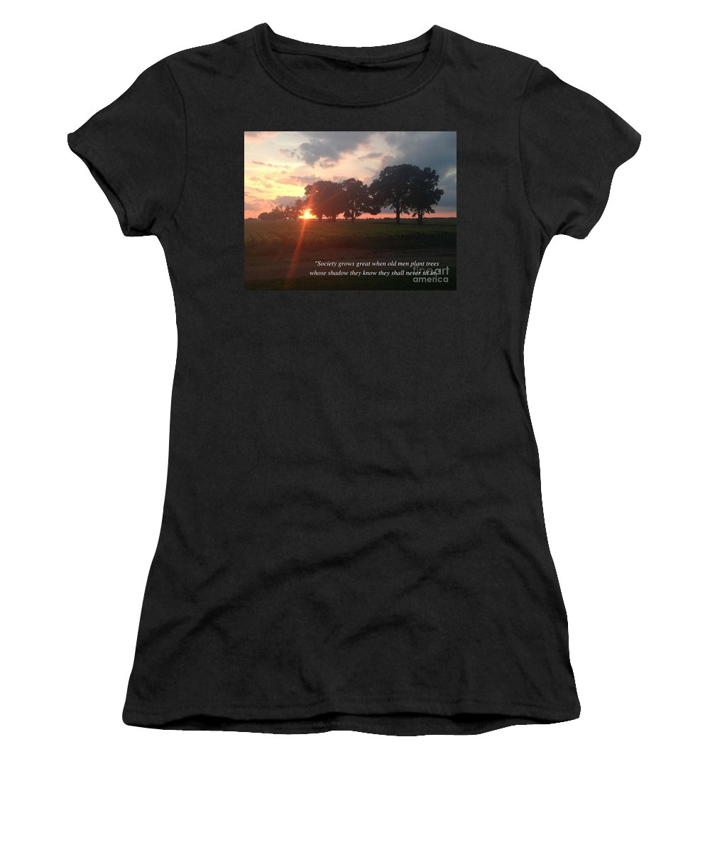Women's T-Shirt (Athletic Fit) featuring the photograph Greek Proverb by Paul Roberts