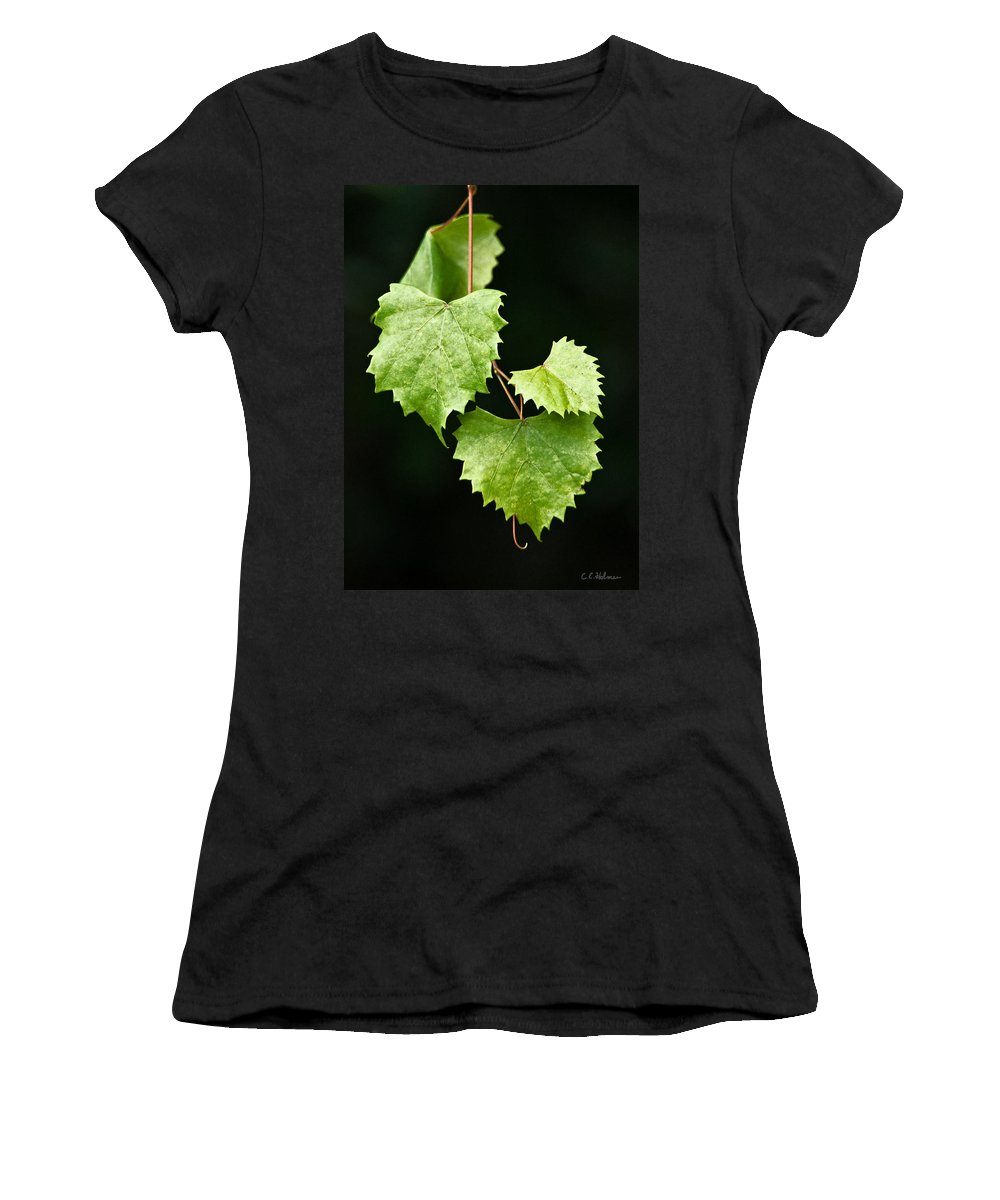 Flora Women's T-Shirt (Athletic Fit) featuring the photograph Green Leaves by Christopher Holmes