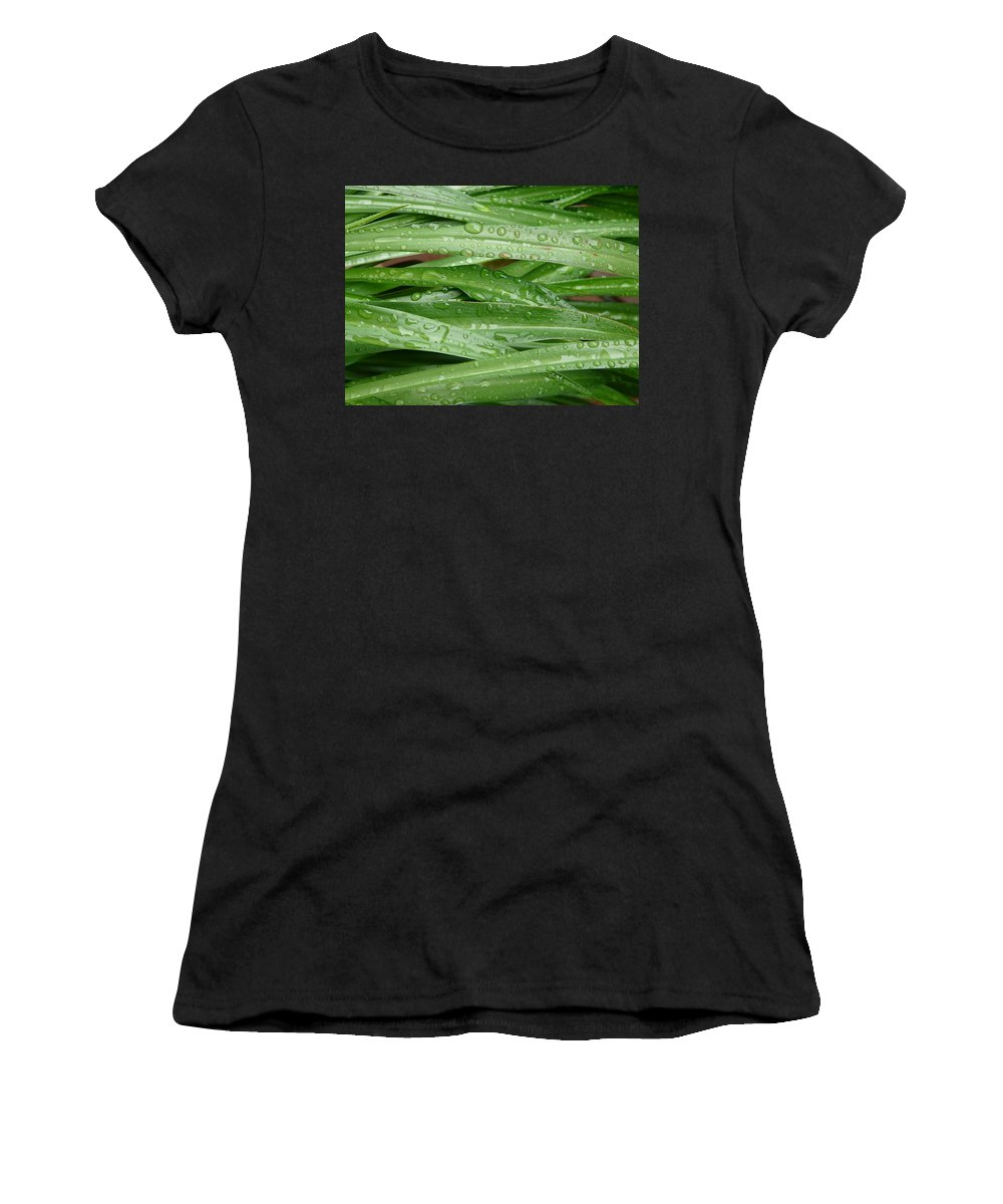 Nature Women's T-Shirt (Athletic Fit) featuring the photograph Green Leaves by Valerie Ornstein