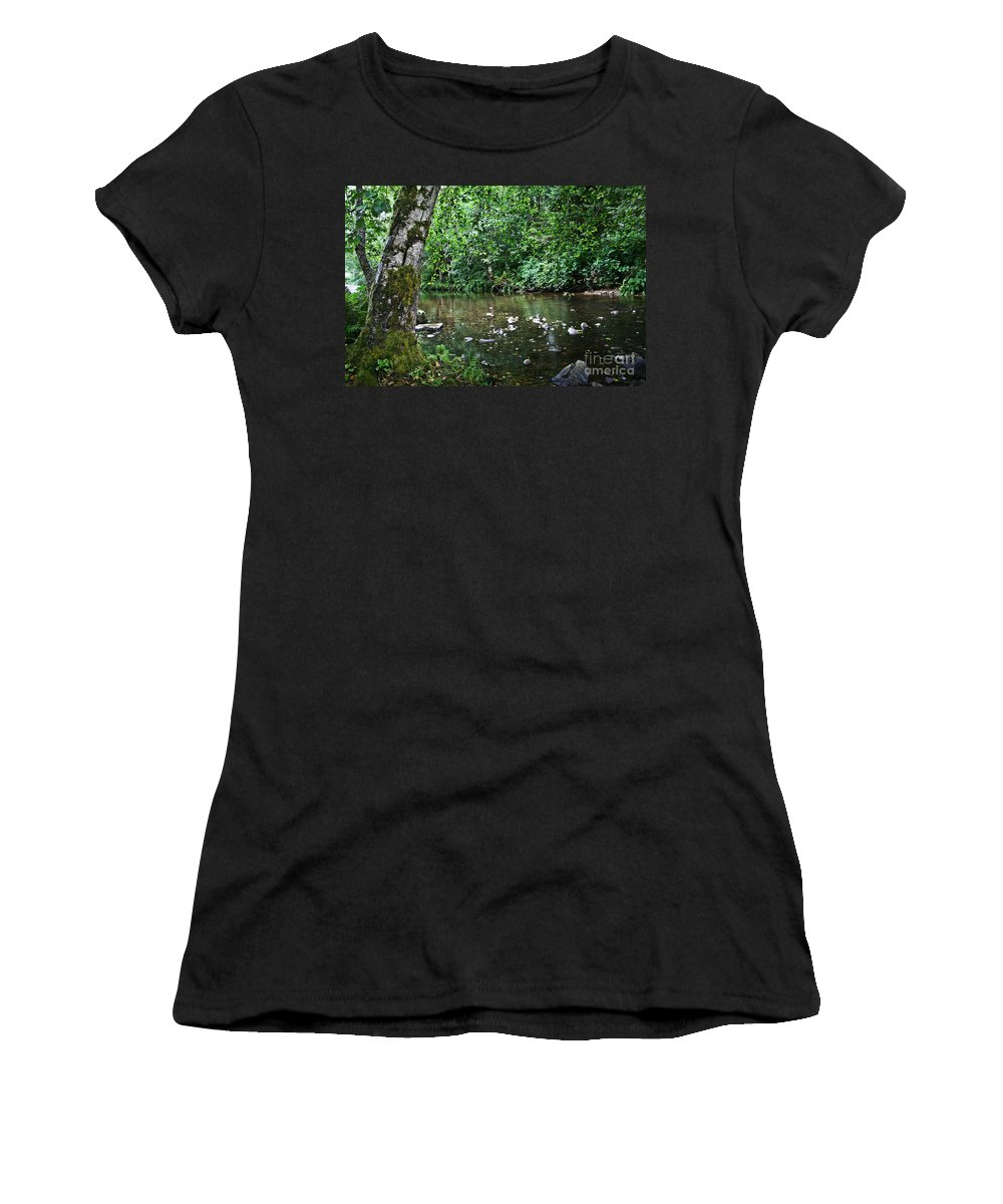 Nature Women's T-Shirt featuring the photograph Greenwood Creek by Michelle Williamson