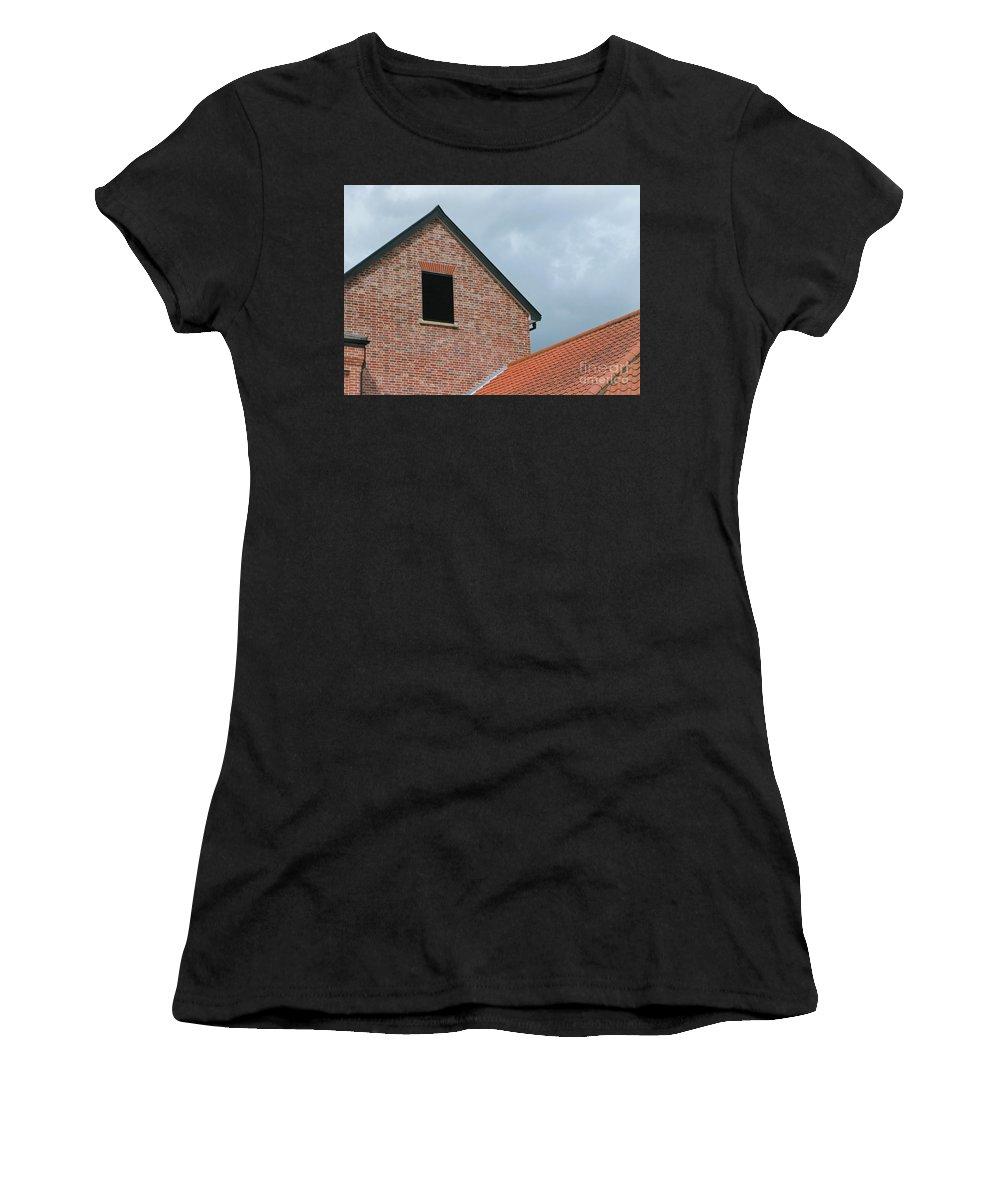 Brick Women's T-Shirt featuring the photograph Grey Skyline by Ann Horn