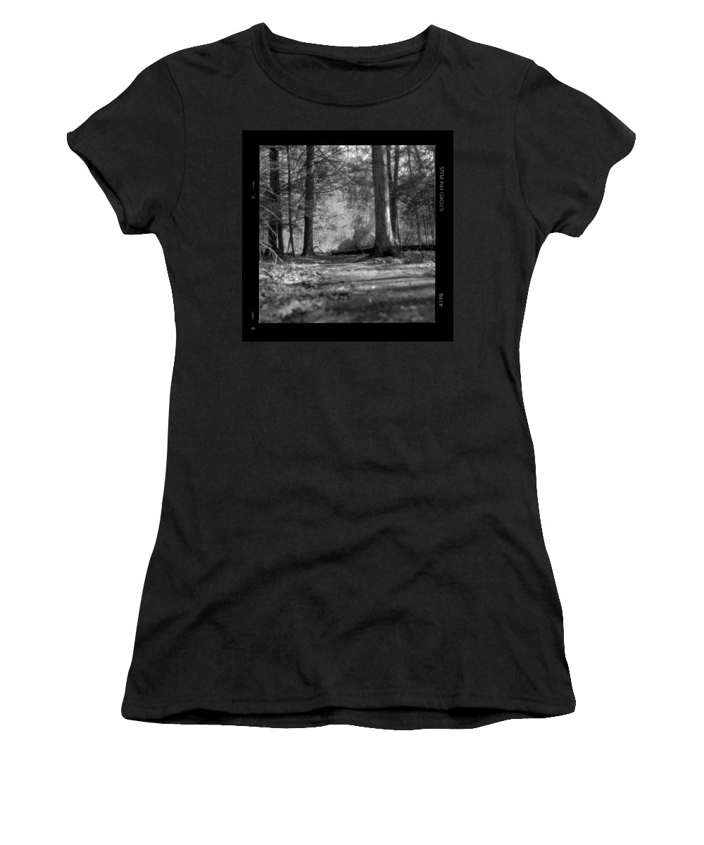 Trees Women's T-Shirt (Athletic Fit) featuring the photograph Ground Floor by Jean Macaluso