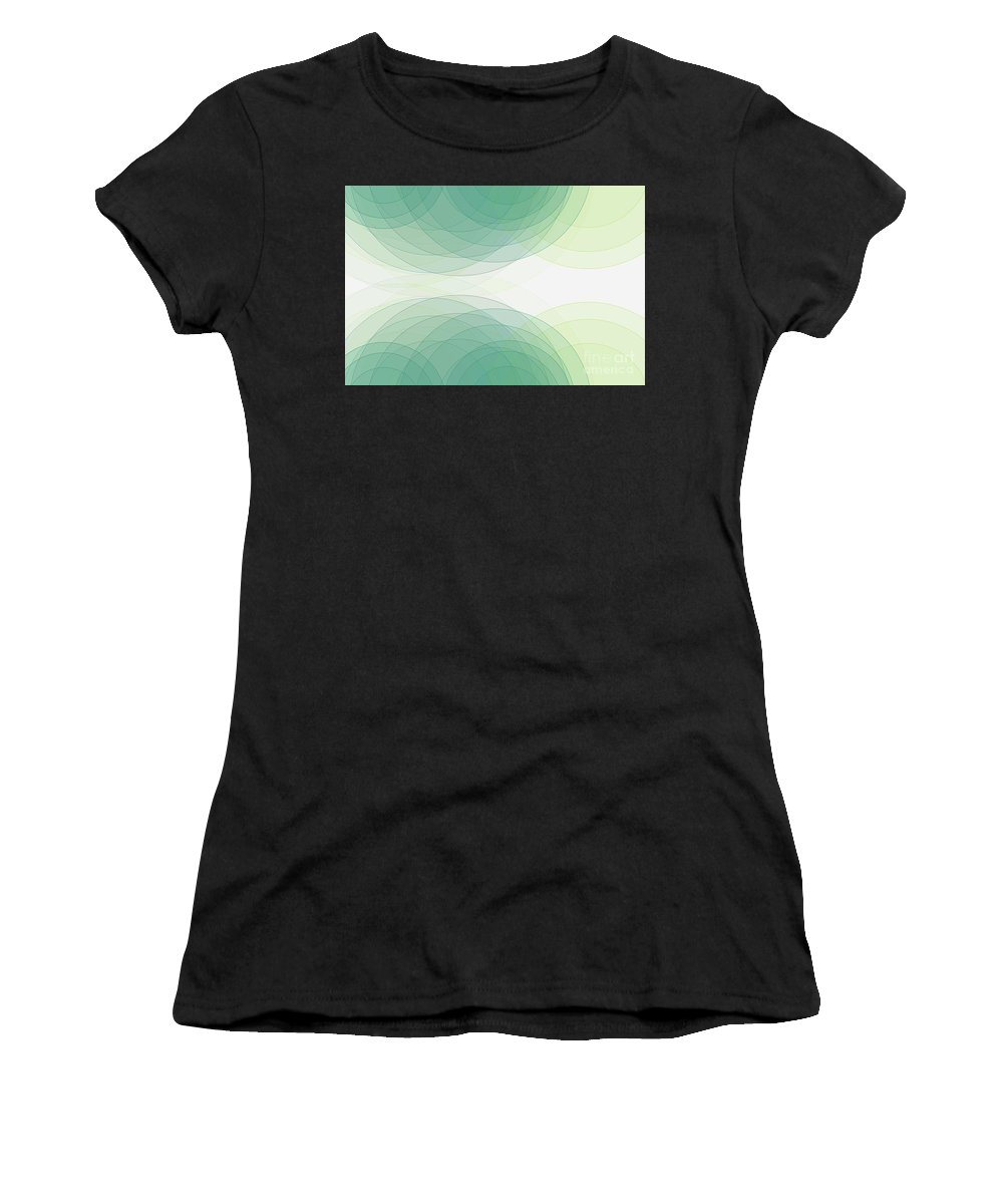 Abstract Women's T-Shirt (Athletic Fit) featuring the digital art Growth Semi Circle Background Horizontal by Frank Ramspott