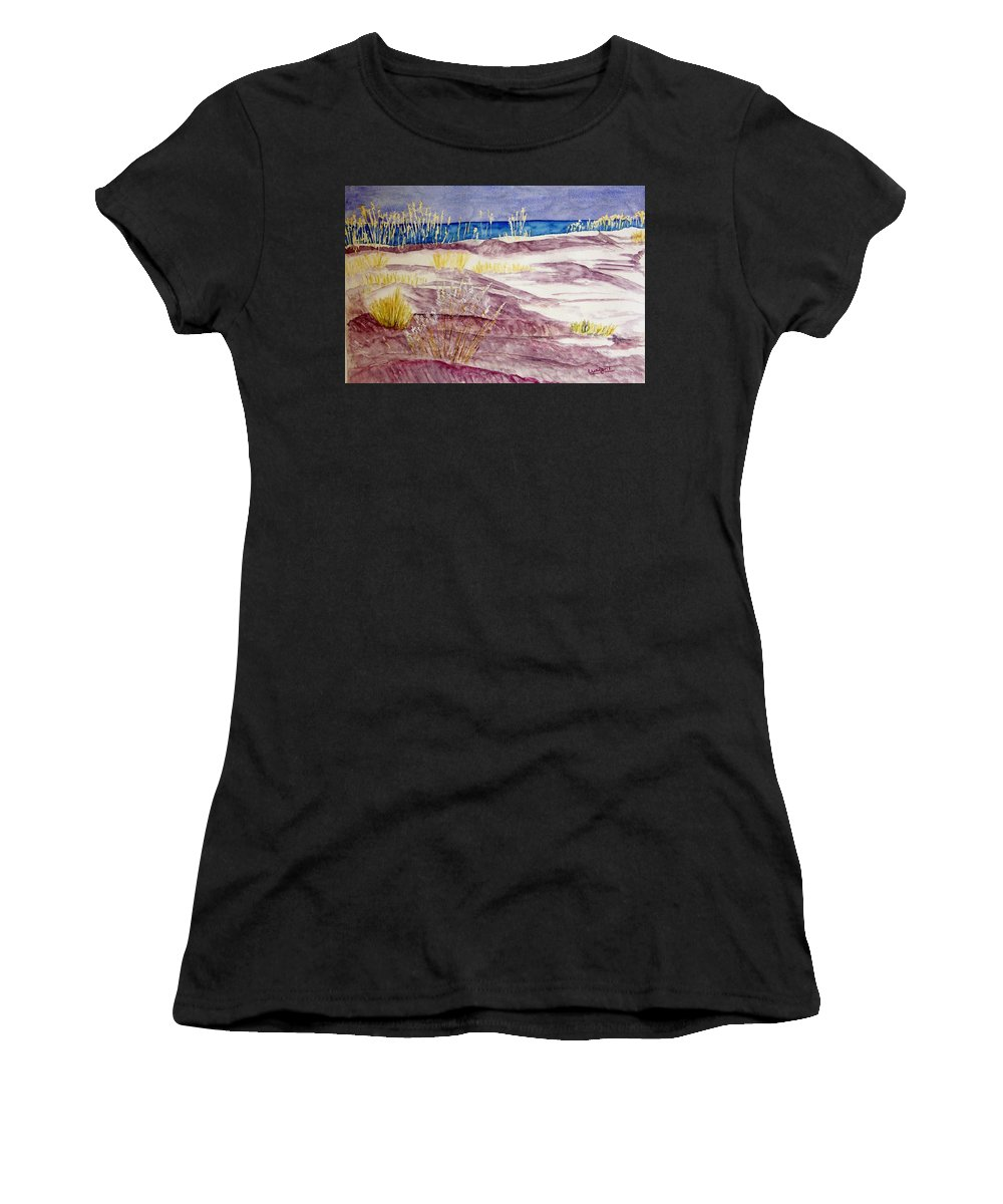 Seascape Women's T-Shirt (Athletic Fit) featuring the painting Gulf Shores Alabama by Larry Wright
