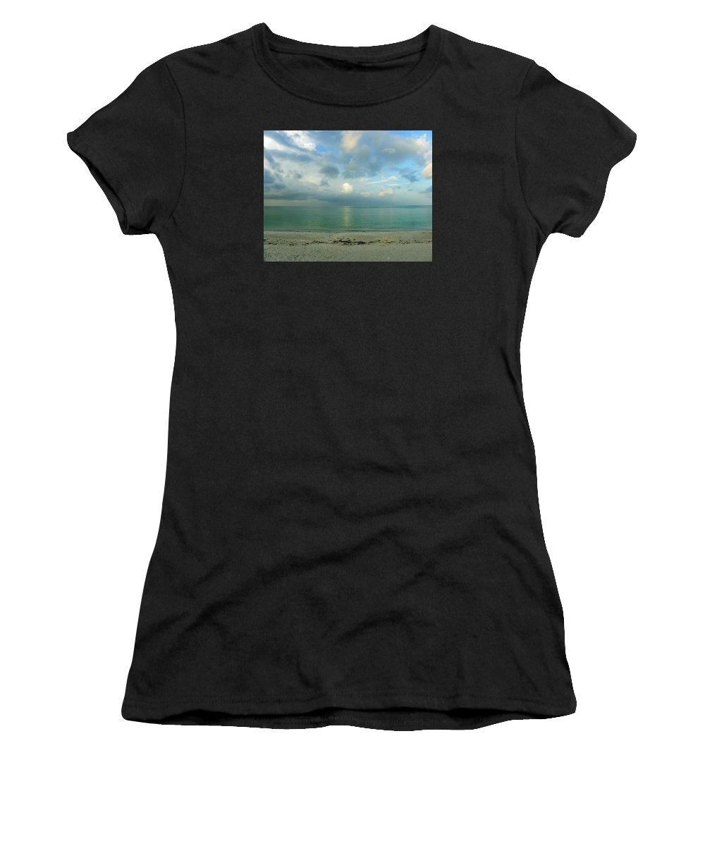Florida Women's T-Shirt (Athletic Fit) featuring the photograph Gulf Storm by Judy Wanamaker