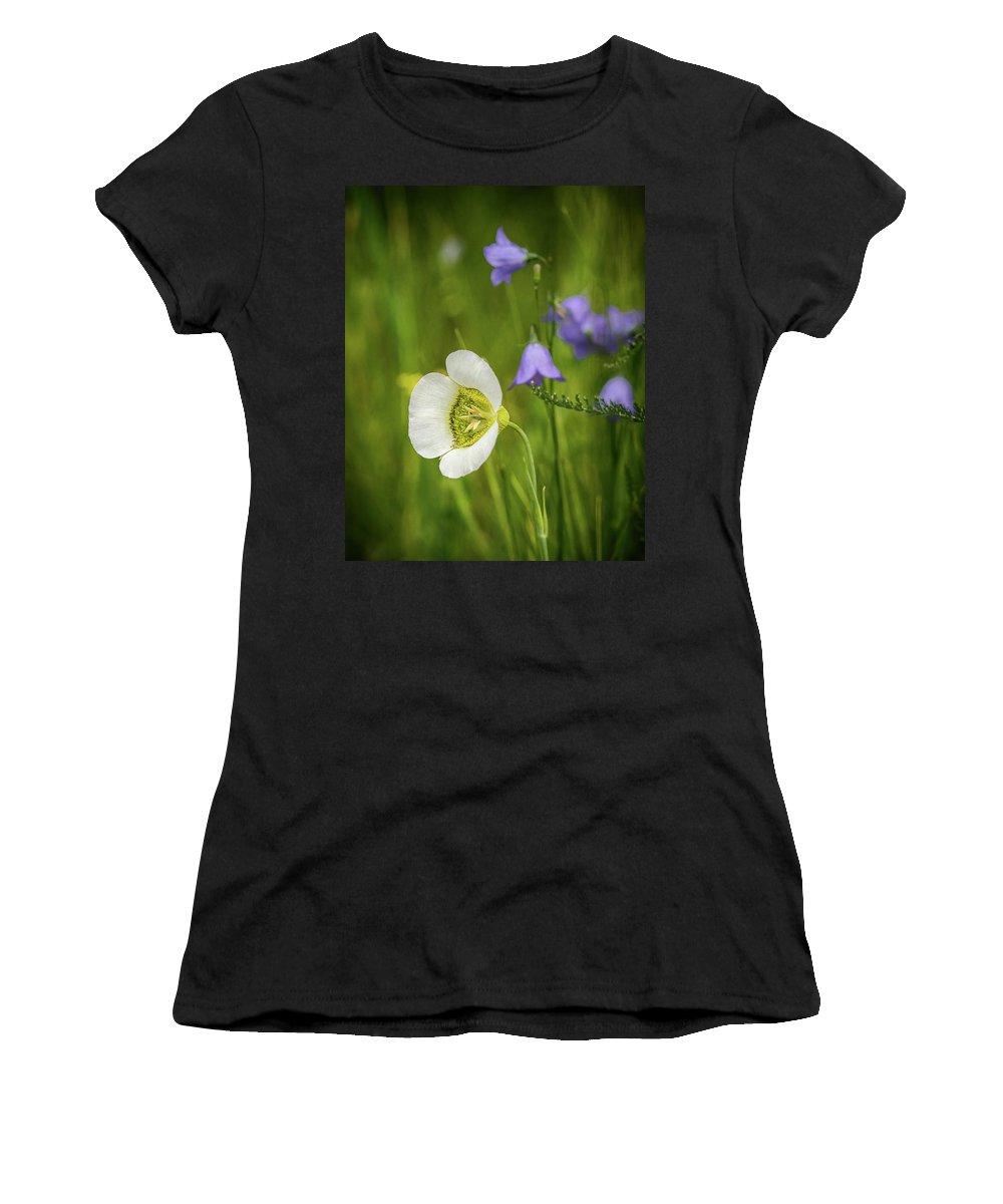 Wildflowers Women's T-Shirt featuring the photograph Gunnison's Mariposa Lily by John Bartelt