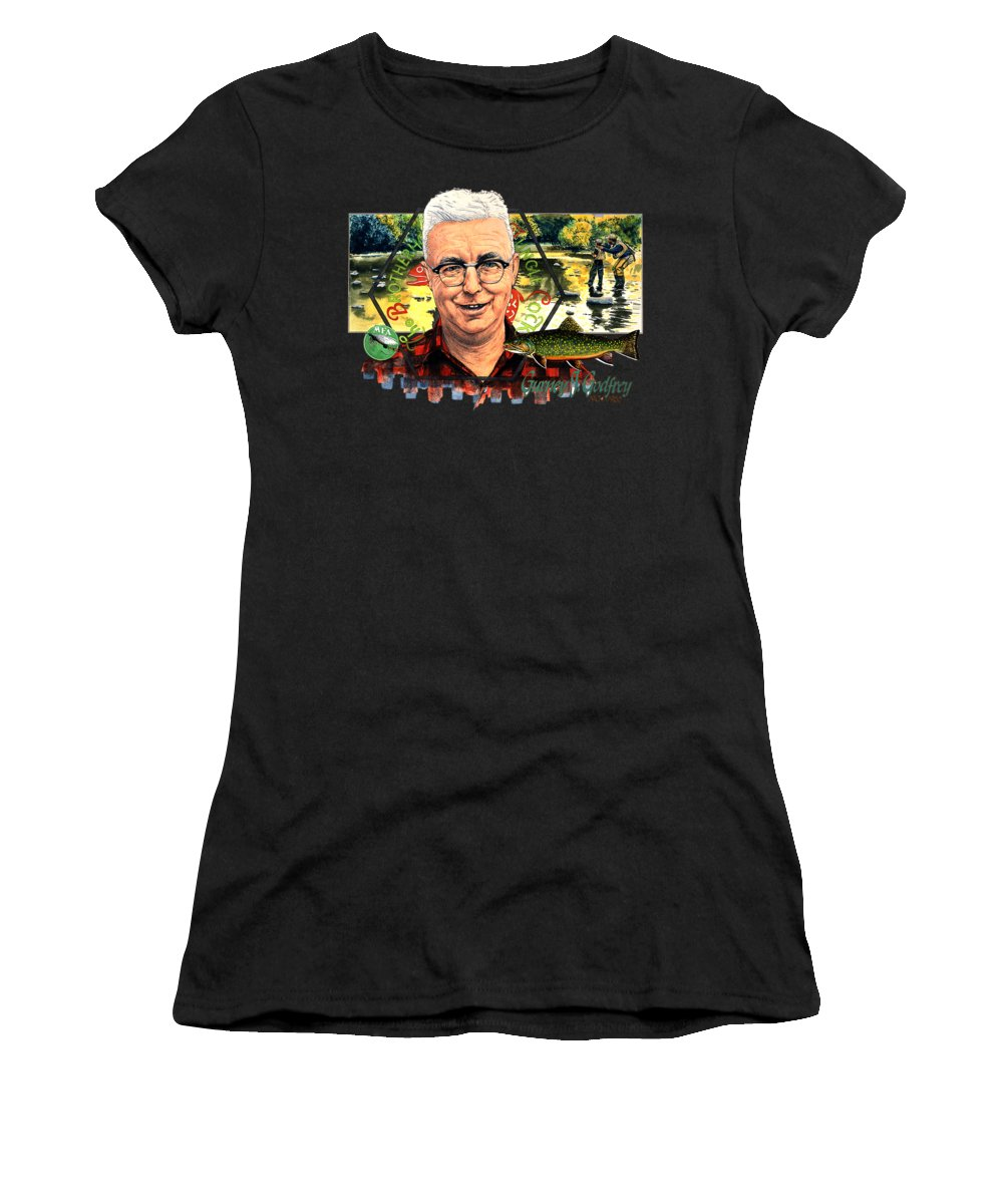 Illustration Women's T-Shirt (Athletic Fit) featuring the drawing Gurney Godfrey by John D Benson