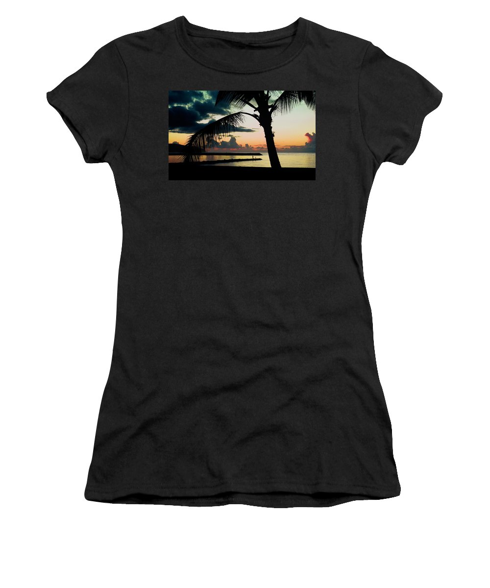 Haleiwa Women's T-Shirt (Athletic Fit) featuring the photograph Haleiwa by Steven Sparks