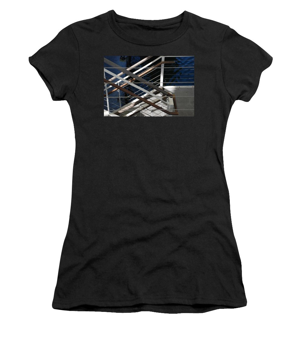 Water Women's T-Shirt (Athletic Fit) featuring the photograph Hand Rails by Rob Hans