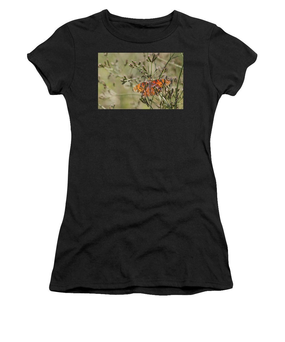 Butterfly Women's T-Shirt (Athletic Fit) featuring the photograph Choices by Donna Collins