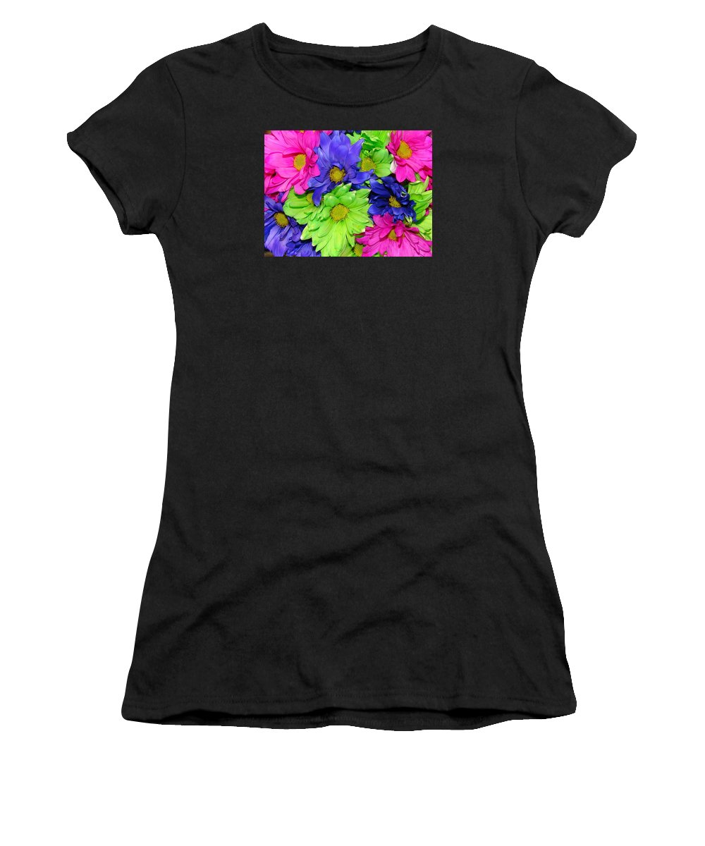 Flowers Women's T-Shirt (Athletic Fit) featuring the photograph Happiness by J R  Seymour