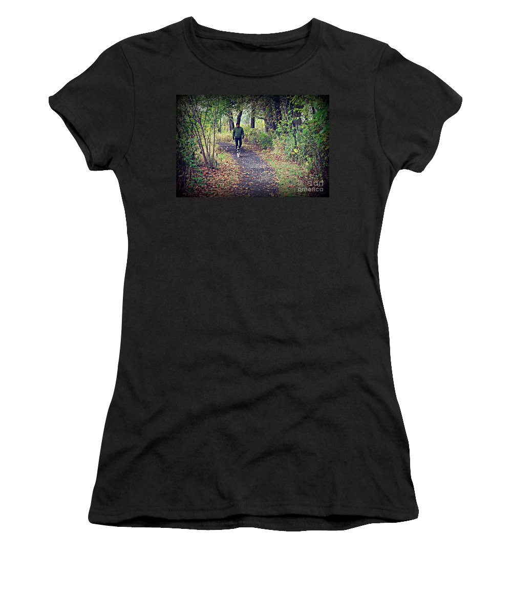 Animal Women's T-Shirt (Athletic Fit) featuring the photograph Happy Dog by Frank J Casella