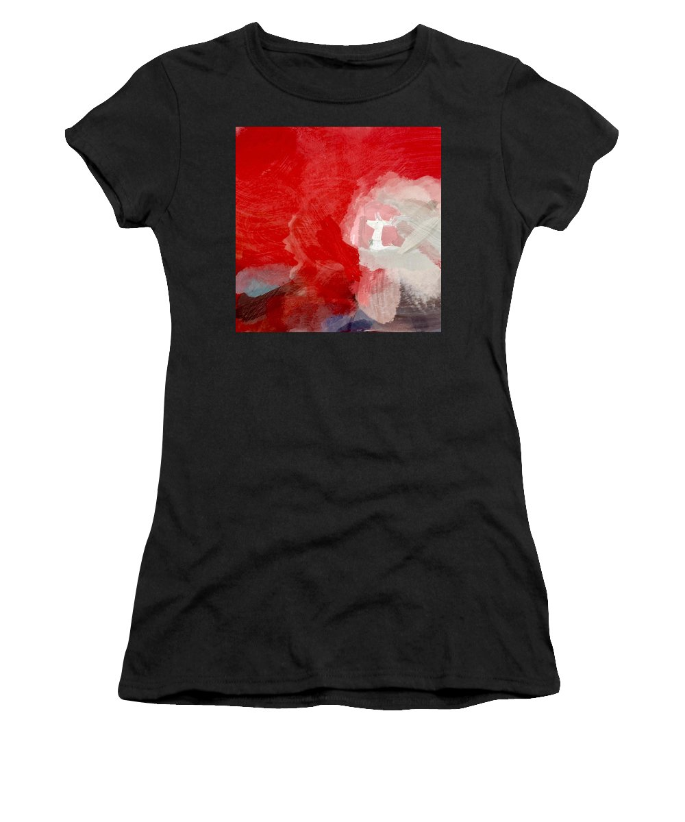 Holiday Women's T-Shirt (Athletic Fit) featuring the painting Happy Holidays by Chris Fulks