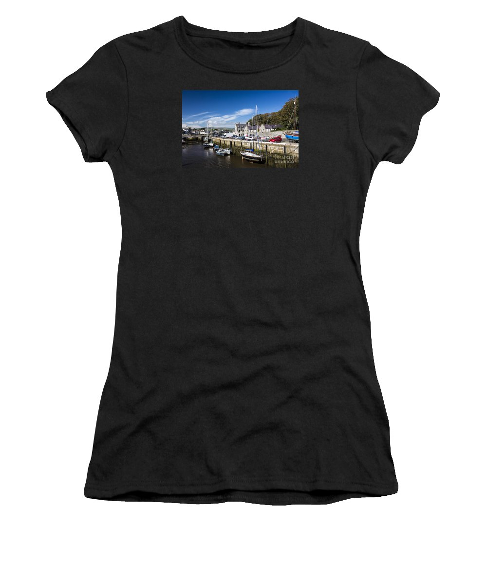 Port Erin Women's T-Shirt (Athletic Fit) featuring the photograph Harbour At Port Erin by Sheila Smart Fine Art Photography