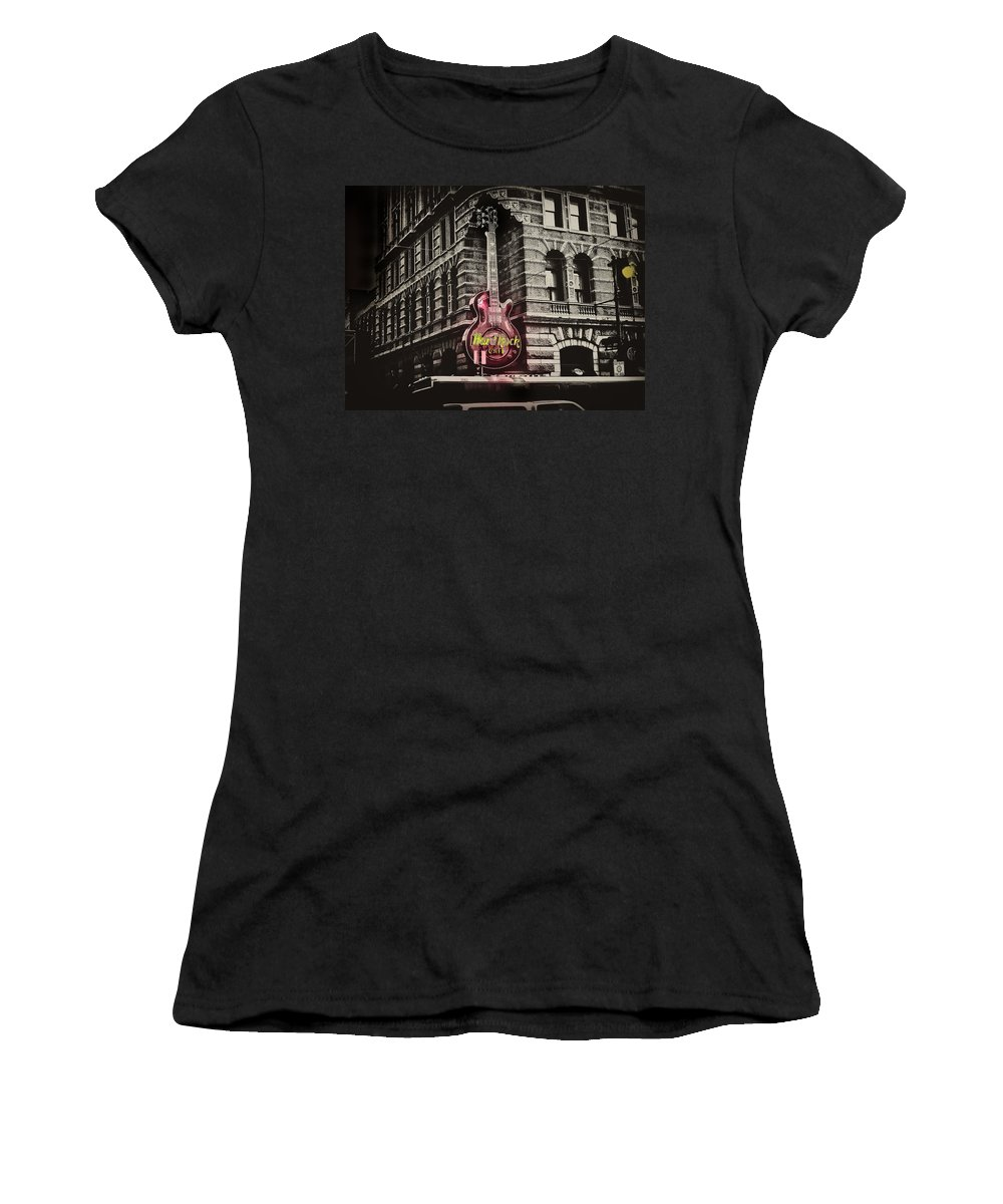 Philadelphia Women's T-Shirt (Athletic Fit) featuring the photograph Hard Rock Philly by Bill Cannon