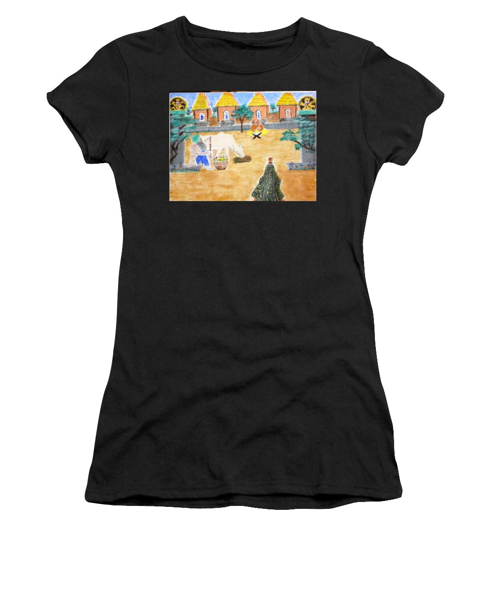 Women's T-Shirt featuring the painting Harmony by R B