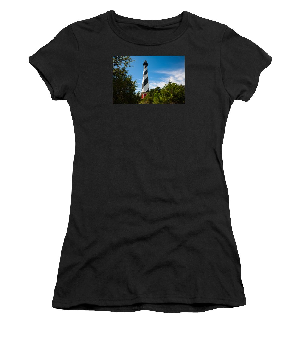 Richard Women's T-Shirt (Athletic Fit) featuring the photograph Hatteras Lighthouse Standing Guard by Richard Bandy