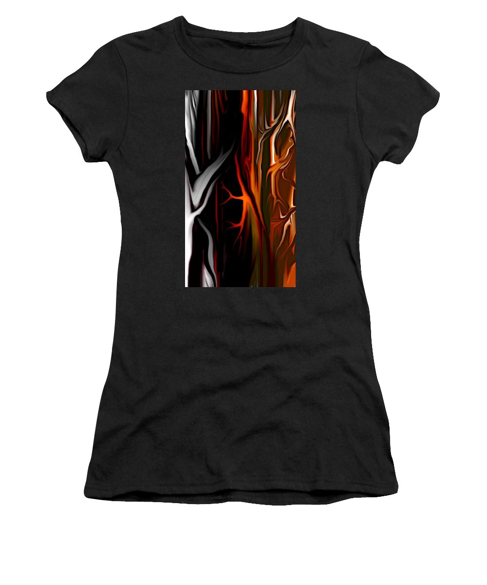 Abstract Digital Painting Women's T-Shirt featuring the digital art Haunted by David Lane