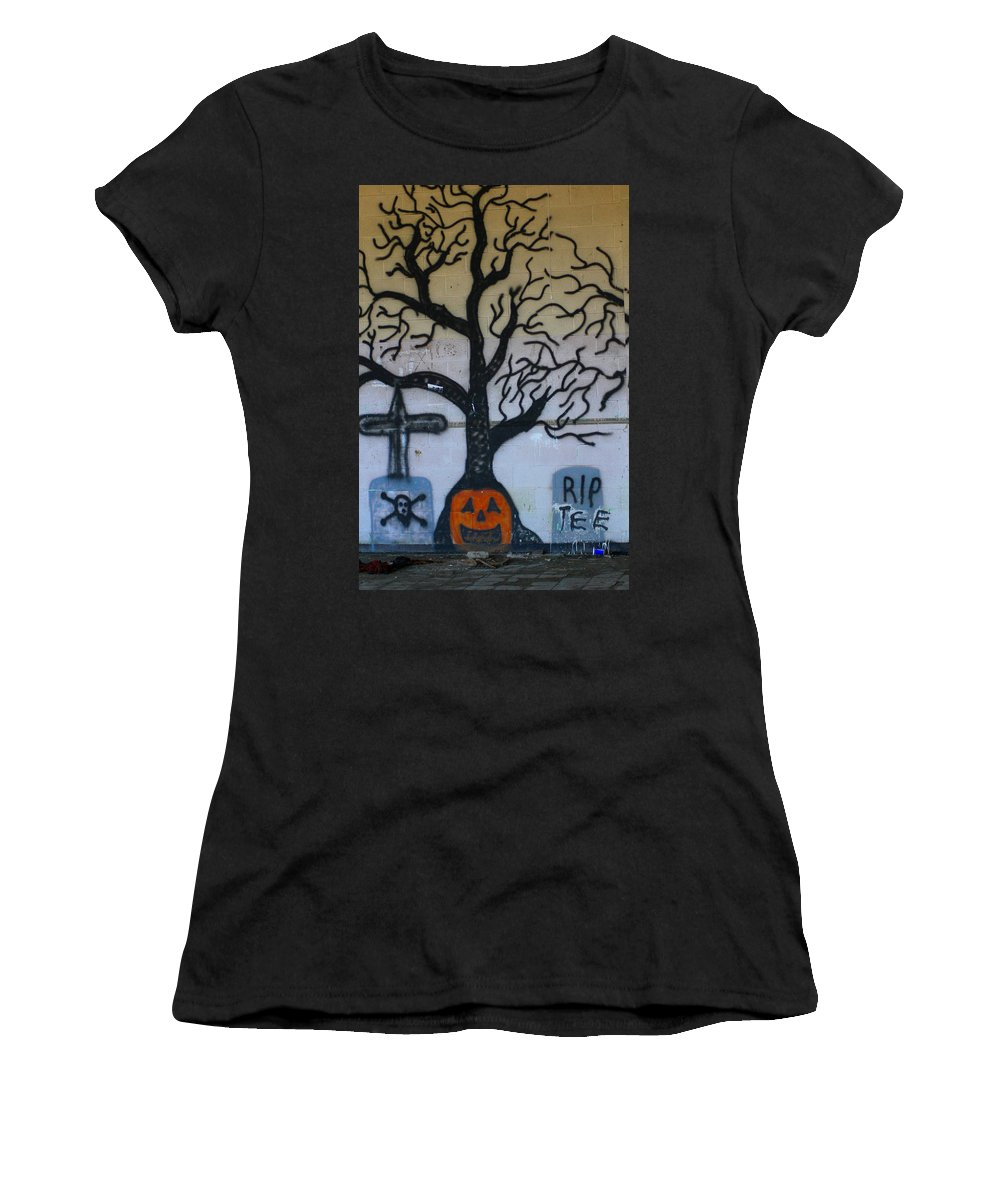 Tree Women's T-Shirt (Athletic Fit) featuring the photograph Haunted House by Karen Wagner