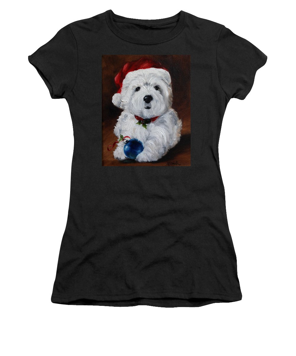 Art Women's T-Shirt featuring the painting Have Yourself A Merry Little Christmas by Mary Sparrow