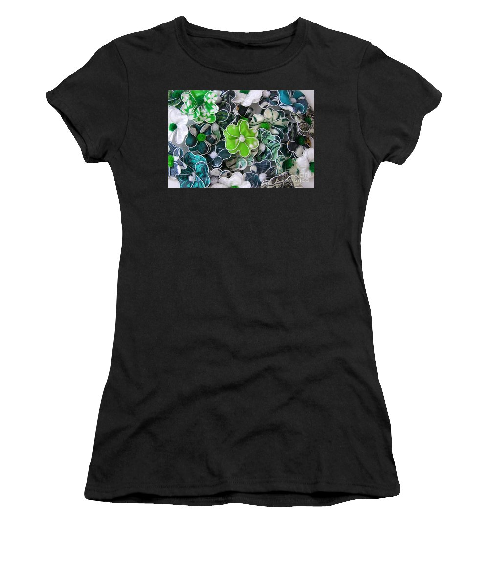 Hair Fashion Women's T-Shirt (Athletic Fit) featuring the photograph Hawaii Hair Flowers by Mary Deal