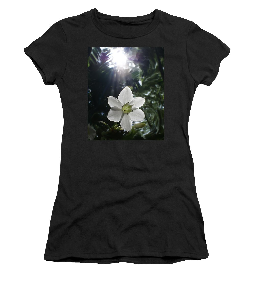 Hawaiian Women's T-Shirt (Athletic Fit) featuring the photograph Hawaiian Flower by Heather Coen