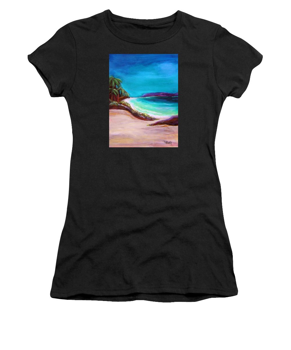 Beach Women's T-Shirt (Athletic Fit) featuring the painting Hawaiin Blue by Patricia Piffath