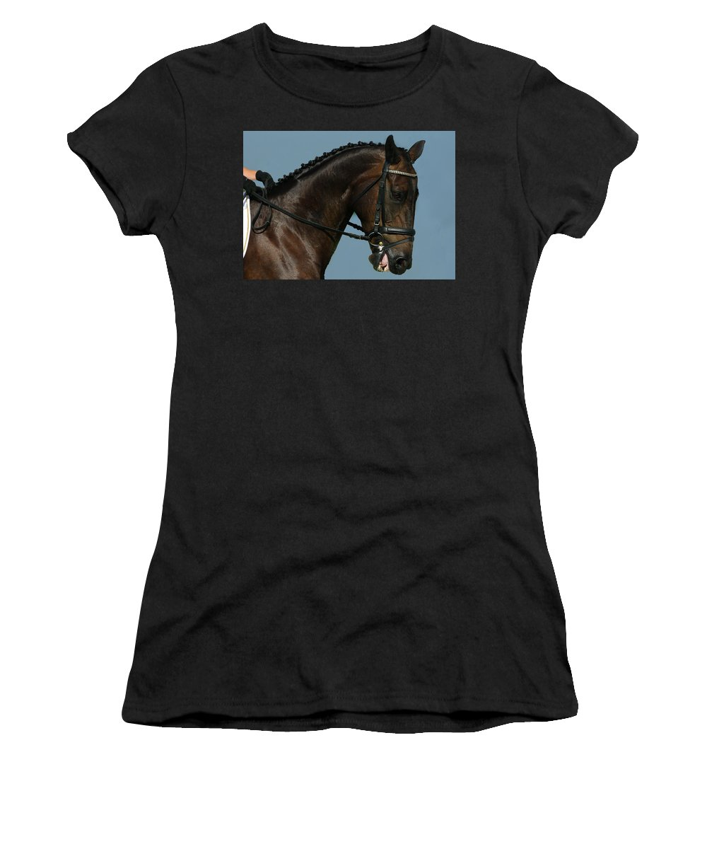 Horse Women's T-Shirt (Athletic Fit) featuring the photograph Head Shot by Jenny Gandert