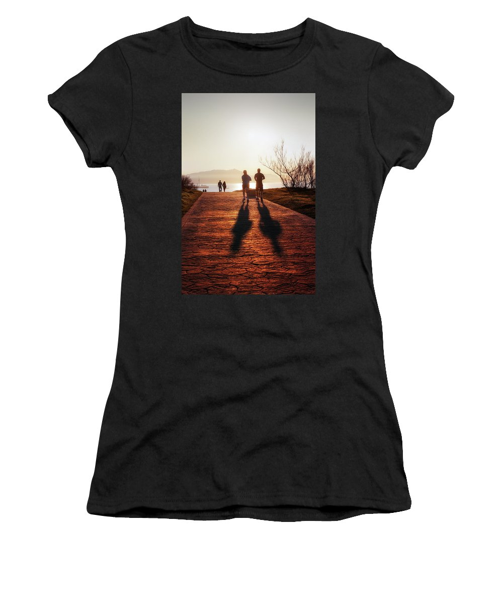People Women's T-Shirt (Athletic Fit) featuring the photograph Healthy Lifestyle by Mikel Martinez de Osaba