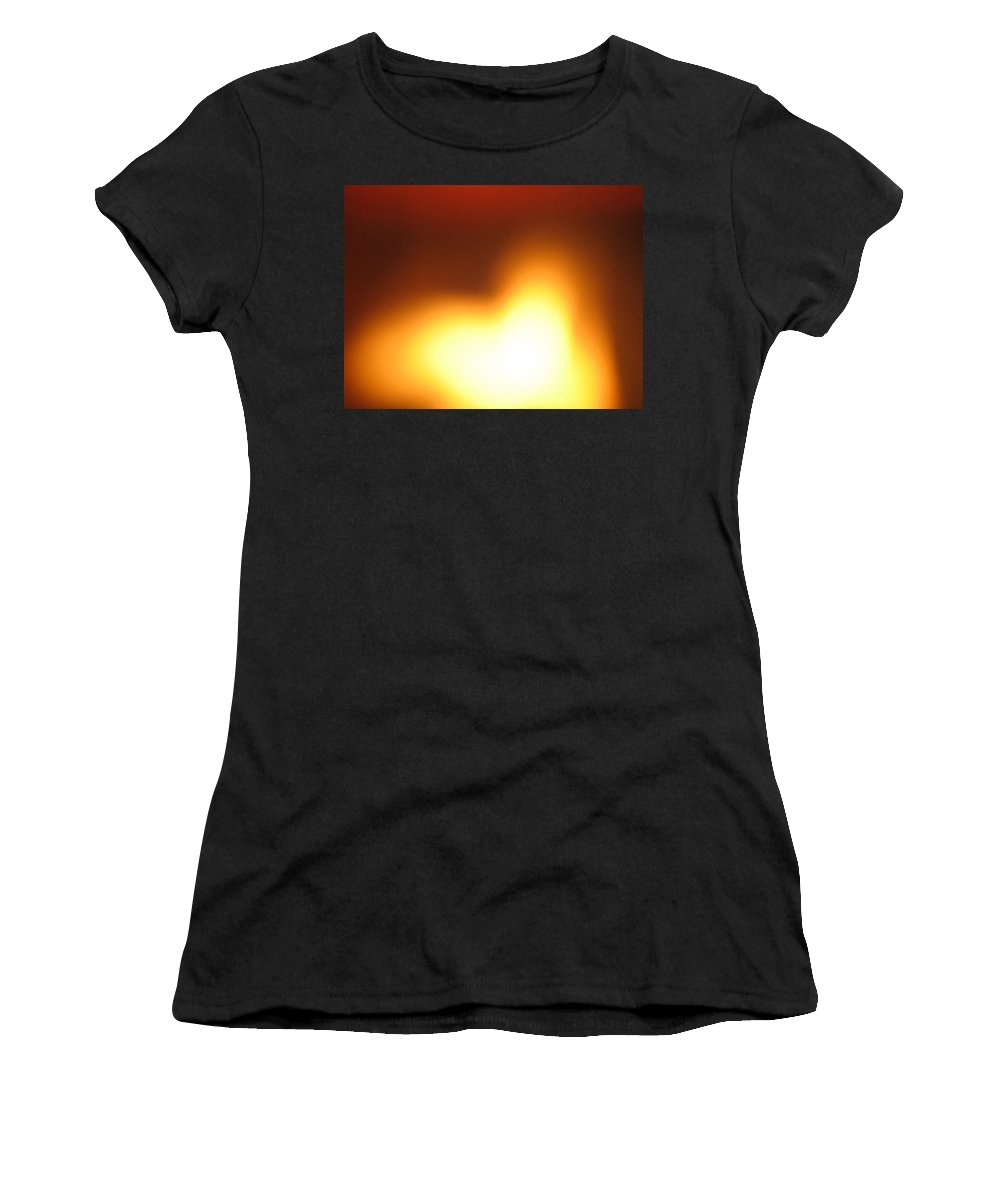 Heart Women's T-Shirt (Athletic Fit) featuring the photograph Heart In Heart by Ishwar Malleret