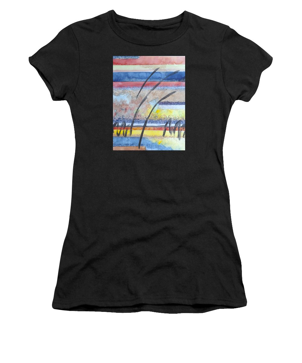 Abstract Women's T-Shirt featuring the painting Heartbeat by Jacqueline Athmann