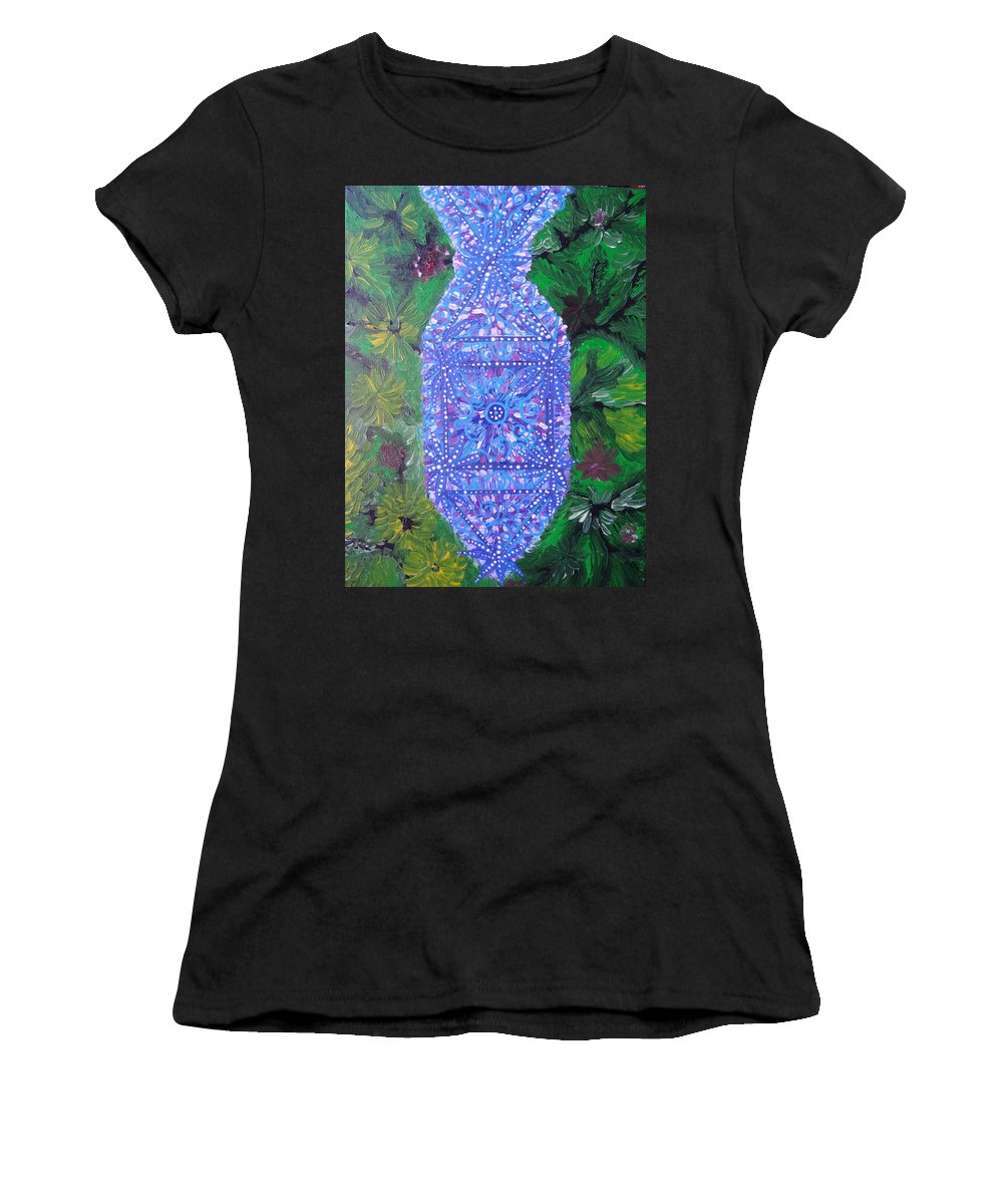 Ancient Symbol Women's T-Shirt featuring the painting Heaven-earth Connection by Joanna Pilatowicz