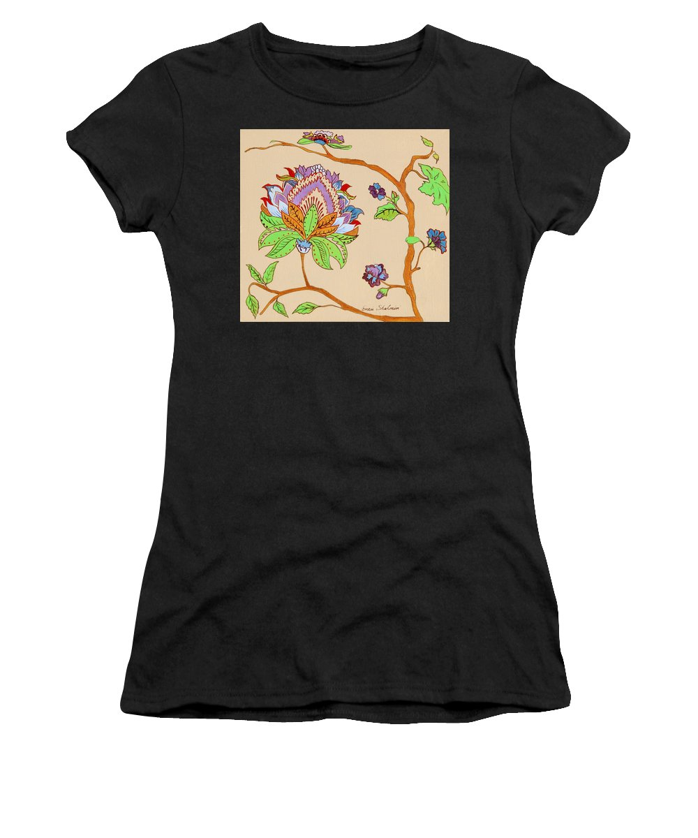 Floral Women's T-Shirt (Athletic Fit) featuring the painting Heavens Flower by Portraits By NC