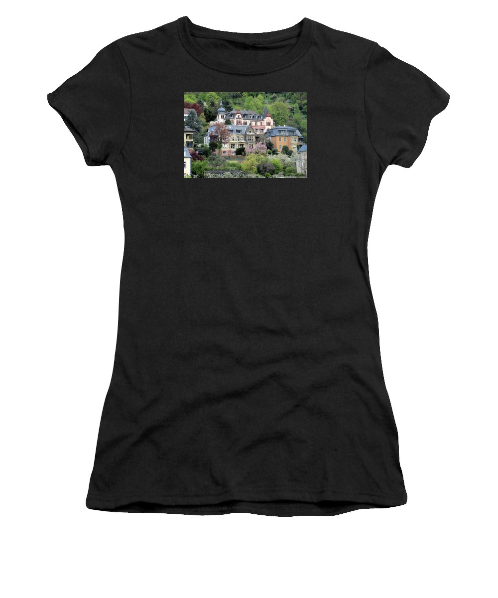 Travel Women's T-Shirt (Athletic Fit) featuring the photograph Heidelberg Pastels by Ruth Ann Mertens