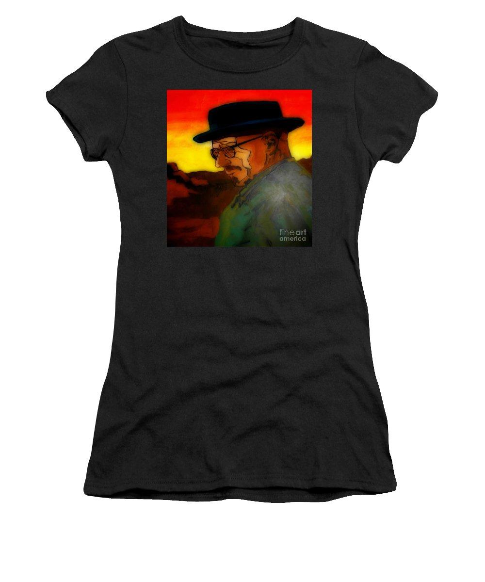 Heisenberg Crystallized Women's T-Shirt featuring the painting Heisenberg Crystallized by John Malone