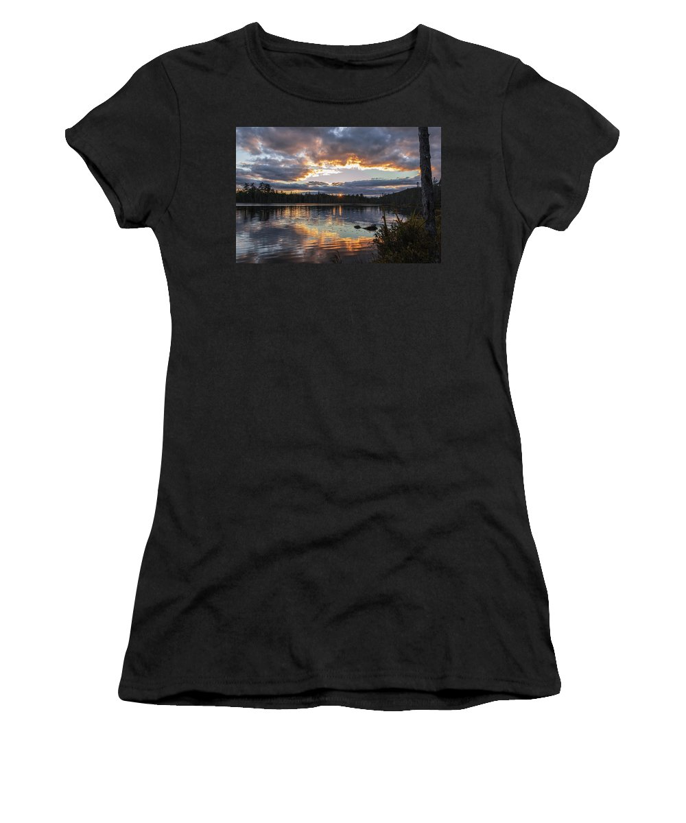 Women's T-Shirt (Athletic Fit) featuring the photograph Helldriver Sun Set by Rhys Templar