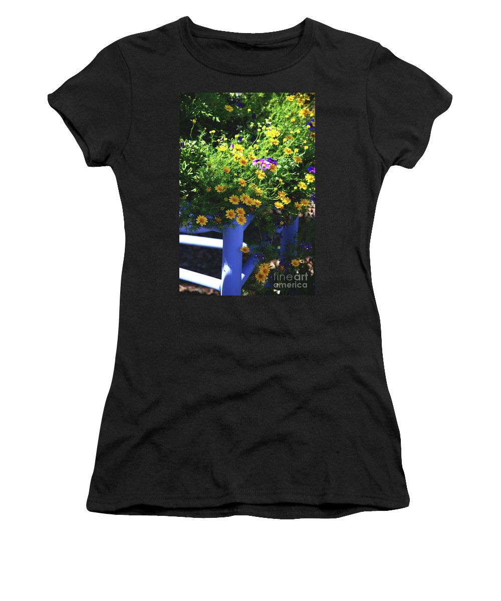 Chair Women's T-Shirt (Athletic Fit) featuring the photograph Hello Sunshine by Susanne Van Hulst