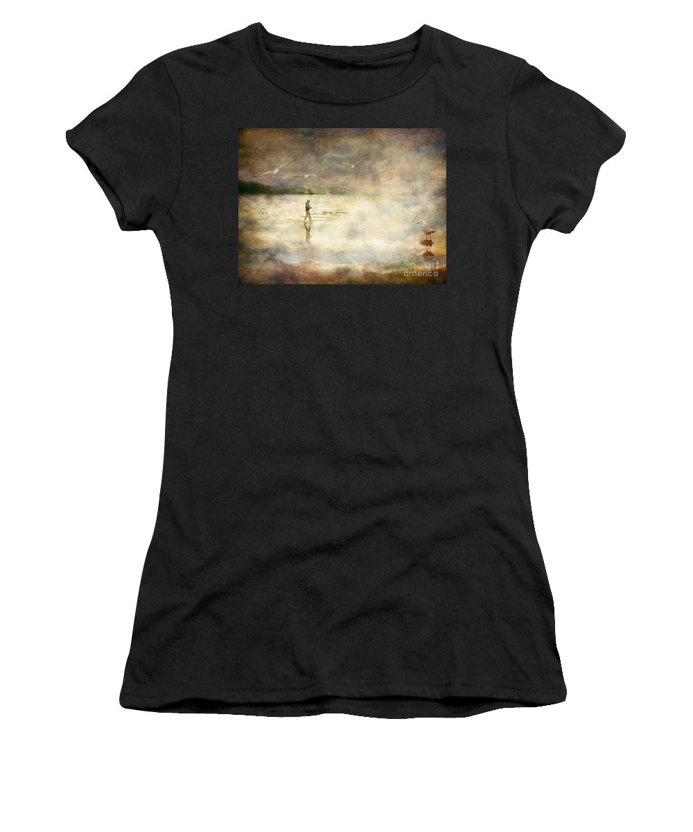 Birds Women's T-Shirt (Athletic Fit) featuring the photograph Helpless by Tara Turner
