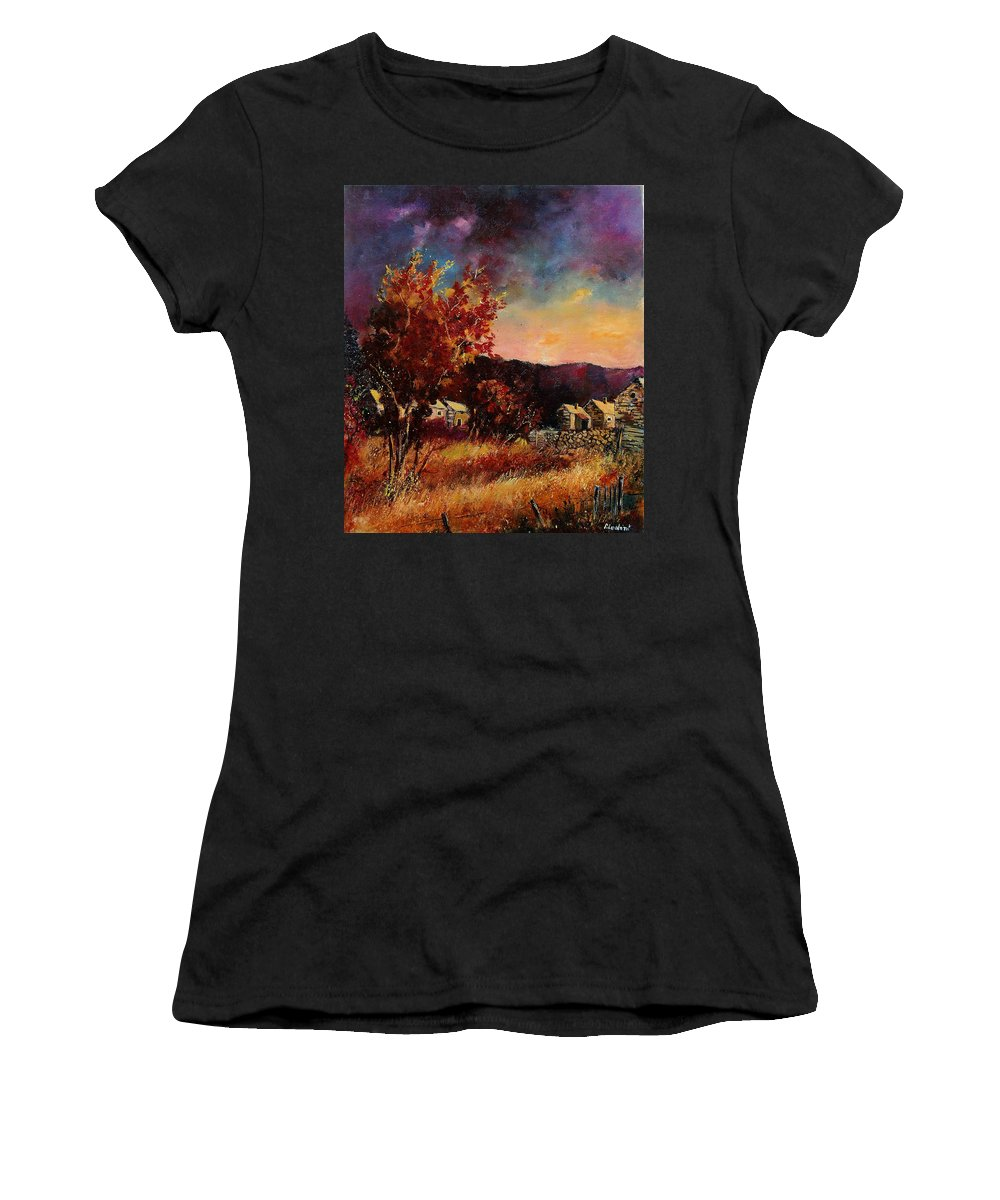 Tree Women's T-Shirt (Athletic Fit) featuring the painting Herhet by Pol Ledent