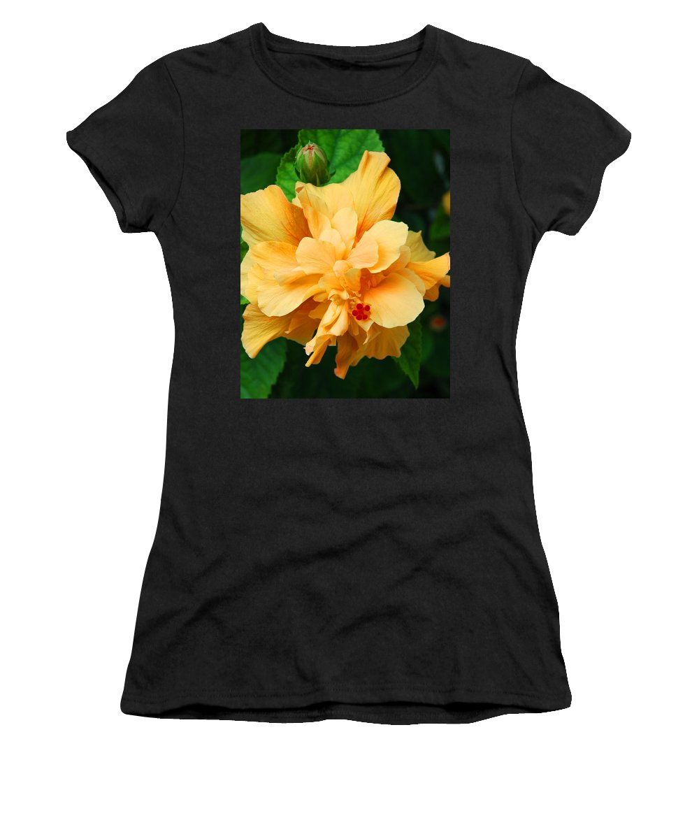 Hibiscus Women's T-Shirt (Athletic Fit) featuring the photograph Hibiscus by Susanne Van Hulst