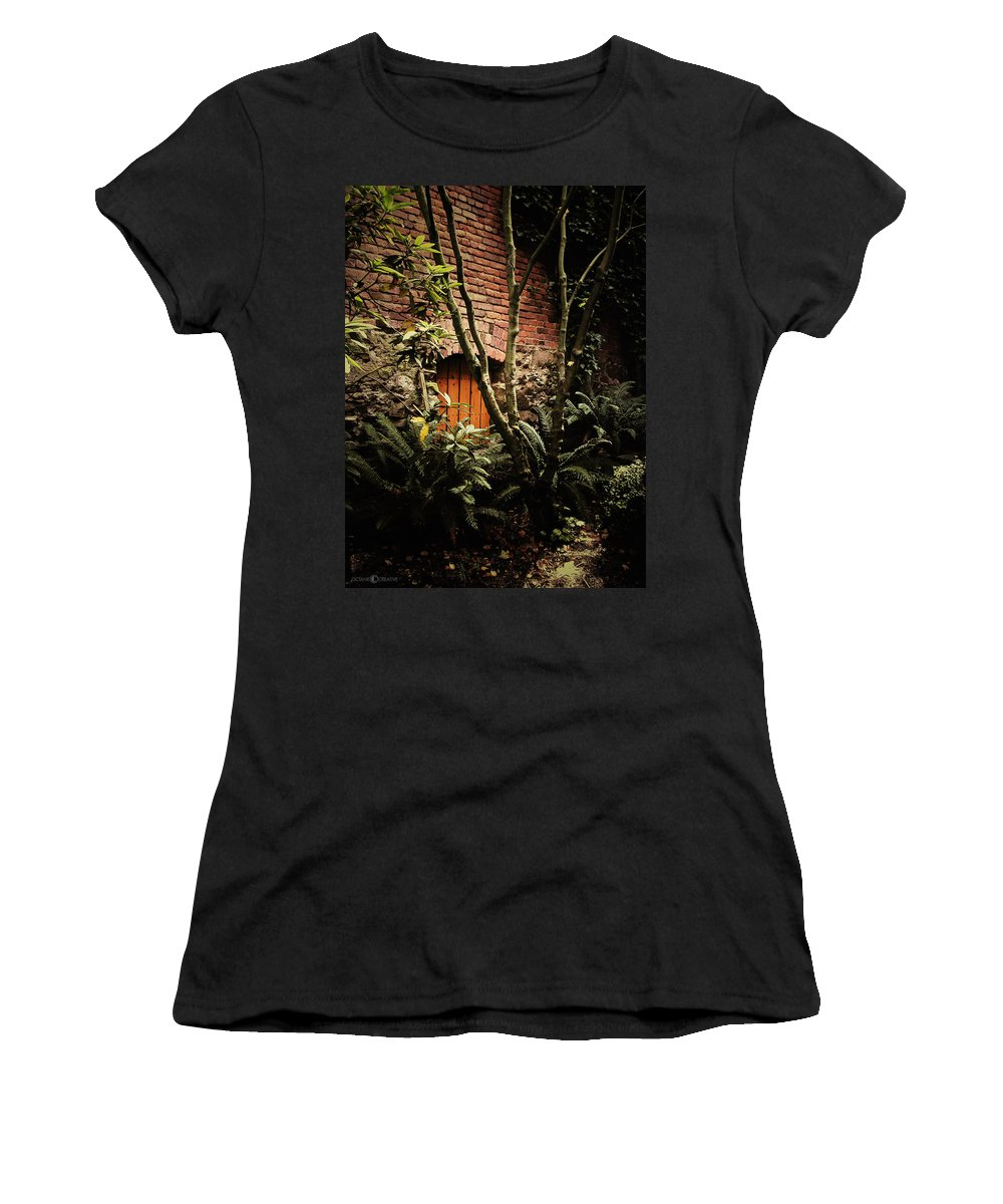 Brick Women's T-Shirt (Athletic Fit) featuring the photograph Hidden Passage by Tim Nyberg